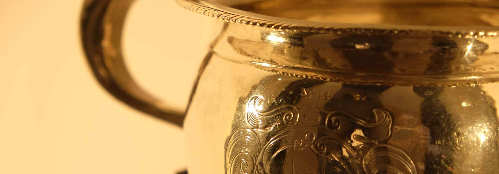 Collections silver chamber pot