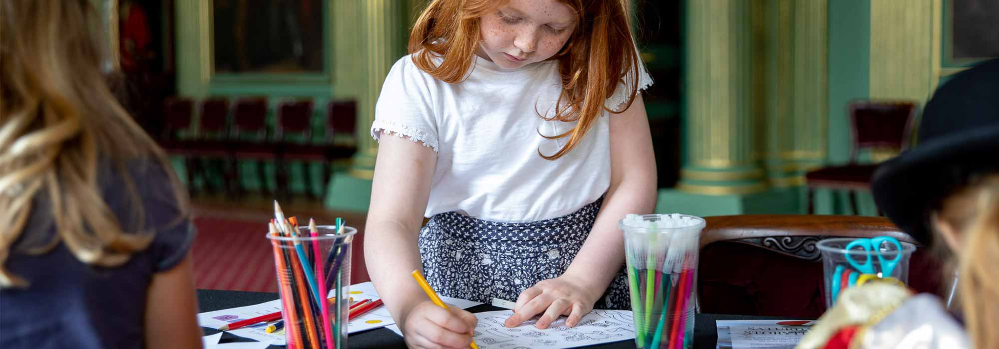 Family crafts at the Mansion House